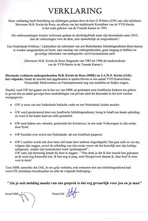 Geert Kwint verklaring