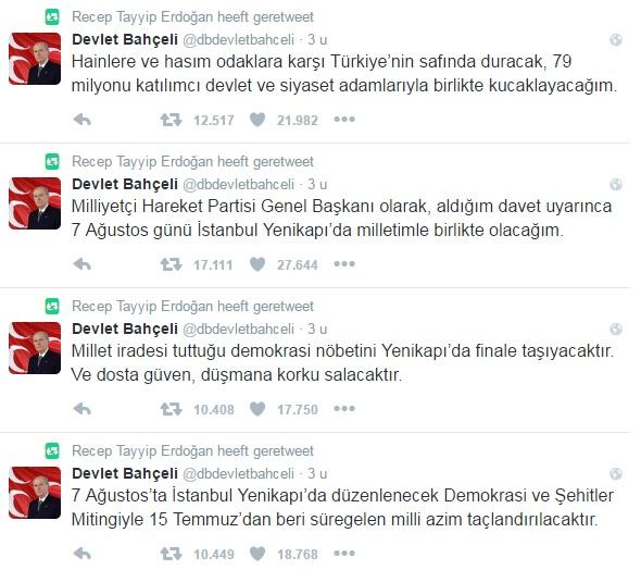 Bahceli RT Erdogan