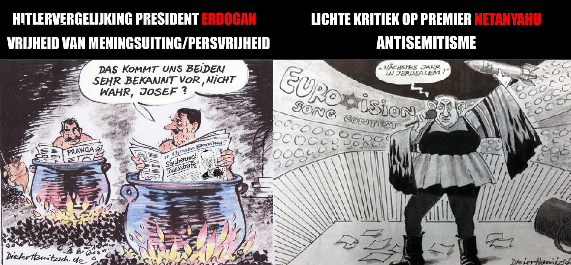 Vanwege netanyahu cartoon ontslagen cartoonist werd for Dieter hanitzsch