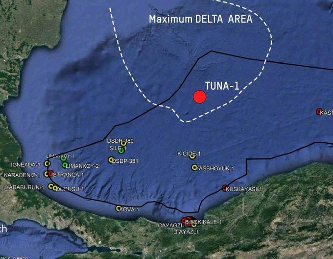 TUNA-1, Zwarte Zee, Turkije, aardgas