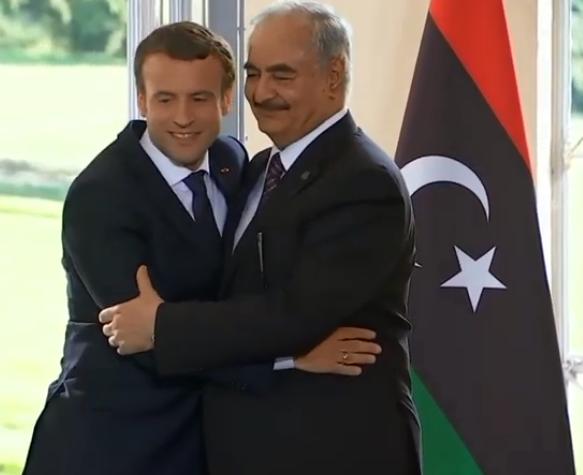 Khalifa Haftar, Macron